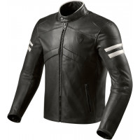 Rev'it Prometheus leather jacket Black White