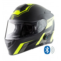 Casco modulare Befast Connection con interfono integrato Giallo Nero