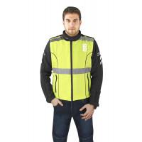Gilet alta visibilità OJ Flash giallo fluo nero