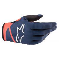Alpinestars RADAR NV cross gloves Dark Blue Red Fluo