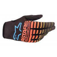 Alpinestars RADAR NV cross gloves Black Yellow Fluo Coral