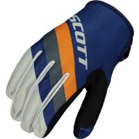 SCOTT 350 Track cross gloves blue orange