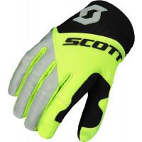 SCOTT 450 Angled cross gloves black yellow