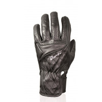 Darts woman leather summer gloves Sterling black