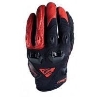 Five Stunt Evo NL black red summer motorcycle gloves