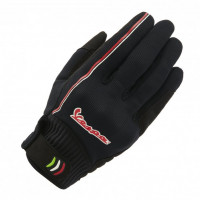 Vespa Modernist summer gloves Black Red