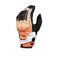 Macna leather summer gloves Assault black orange