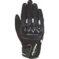 Ixon RS RISE AIR leather and tex summer gloves Black White