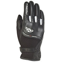 Ixon RS SHINE 2 summer leather and tex gloves Black White