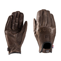 Blauer ROUTINE leather summer gloves Brown