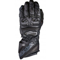 Five RFX3 summer leather motorcycle gloves Black