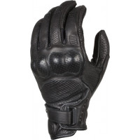 Macna Bold leather summer gloves Black