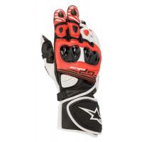 Alpinestars GP PLUS R V2 Leather Racing Gloves Black White Bright Red