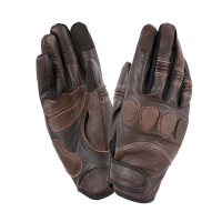 Tucano Urbano Gig Pro motorcycle leather gloves vintage brown