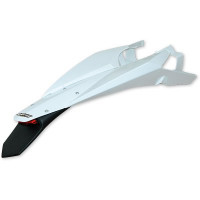 Rear fender UFO with LED Husqvarna White