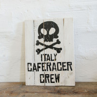 Berider Italy Caferacer Crew Wood Sign