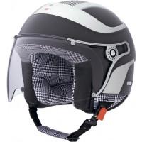 CABERG Jet Uno Glam jet helmet col. matt black leather
