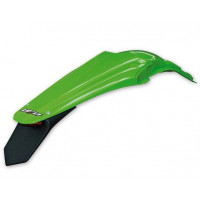 Enduro rear fender UFO with LED for Kawasaki Green