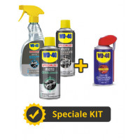 Kit WD40 pulizia e lucidatura moto + pulitore Spray multifunzionale