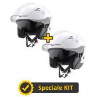 Kit Top J bianco lucido - Coppia caschi jet Befast Top J