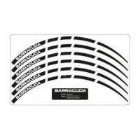 Barracuda universal Stripes kit Black for motorbikes wheels