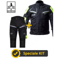 Kit Transformer Klima CE Yellow - Befast certified motorcycle jacket + Befast certified motorcycle pants