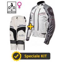 Kit Transformer Klima Lady CE Yellow - Befast certified women's motorcycle jacket + Befast certified women's motorcycle pants