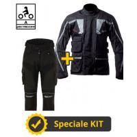 3-layer Touring Tech CE kit Black - Befast certified motorcycle jacket + Befast certified motorcycle pants