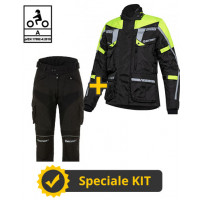 3-layer Touring Tech CE kit Yellow - Befast certified motorcycle jacket + Befast certified motorcycle pants