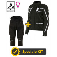 Touring Tech Lady CE 3-layer Black kit - Befast certified women's motorcycle jacket + Befast certified women's motorcycle pants