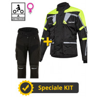 Touring Tech Lady CE 3-layer Yellow kit - Befast certified women's motorcycle jacket + Befast certified women's motorcycle pants