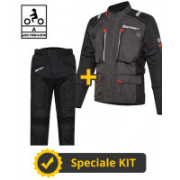 3-layer Victory CE kit Black Gray - Befast certified motorcycle jacket + Befast certified motorcycle pants