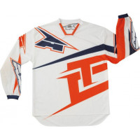 Jersey cross AXO TC222 White Orange Jersey