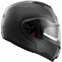 MDS MD200 MULTI full face helmet ADVANCE MATT BLACK SILVER