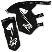 Ufo Plast Jackal knee-shin guard Black White