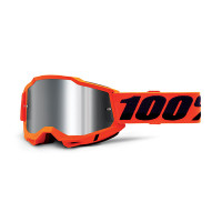 100% Accuri 2 orange cross goggle mirror silver lens