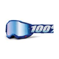 100% Accuri 2 blue cross goggle mirror blu lens