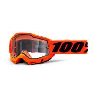 100% Accuri 2 enduro moto orange cross goggle clear lens
