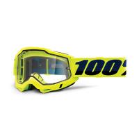 100% Accuri 2 enduro moto yellow cross goggle clear lens