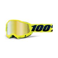 100% Accuri 2 yellow cross goggle mirror gold lens