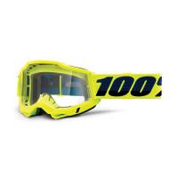 100% Accuri 2 otg yellow cross goggle clear lens