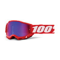 100% Accuri 2 red cross goggle mirror red/blue lens