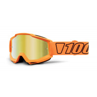 100% accuri luminari mx goggle mirror gold lens