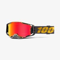 100% ARMEGA FALCON 5 cross goggles red Hiper mirror lens