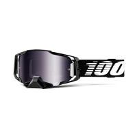 100% Armega black silver mirror lens