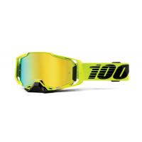 100% armega nuclear citrus mx goggle mirror gold lens