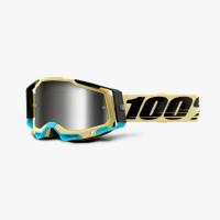 100% RACECRAFT 2 AIRBLAST cross goggles Silver mirror lens