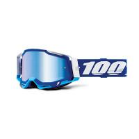 100% Racecraft 2 blue cross goggle mirror blu lens