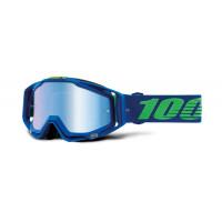 100% racecraft dreamflow mx goggle mirror blue lens