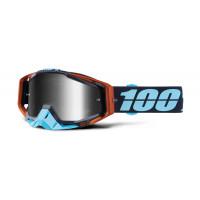 100% racecraft ergono mx goggle mirror silver lens